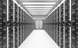 guarded doors for data center with servers